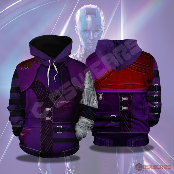 Avengers: End Game Nebula Inspired Pullover Hoodie