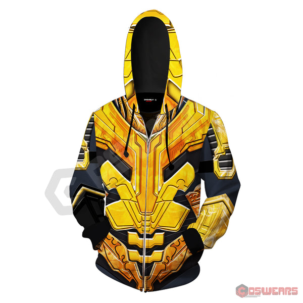 Avengers: End Game Thanos Inspired Zipped Hoodie