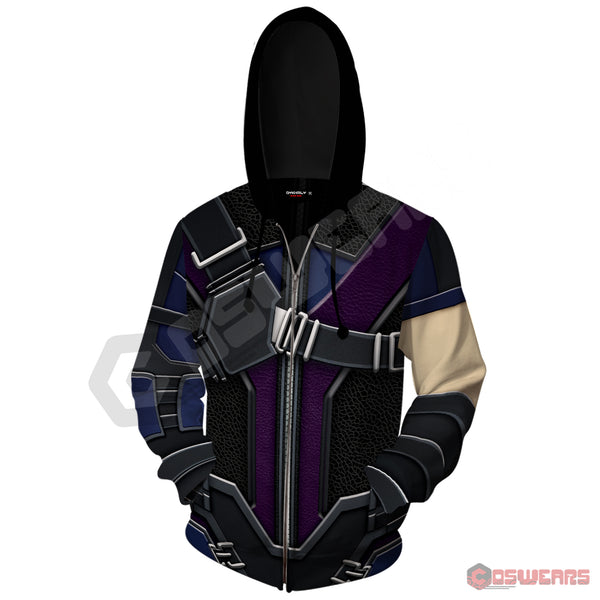 Avengers: End Game Hawkeye Inspired Zipped Hoodie