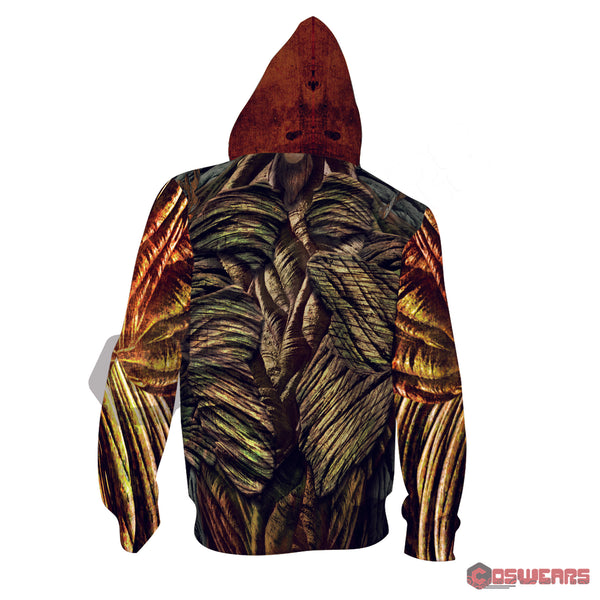 Avengers: End Game Groot Inspired Zipped Hoodie