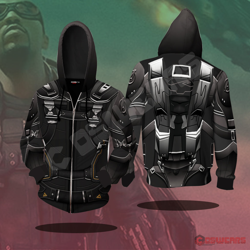 Avengers: End Game Falcon Inspired Zipped Hoodie