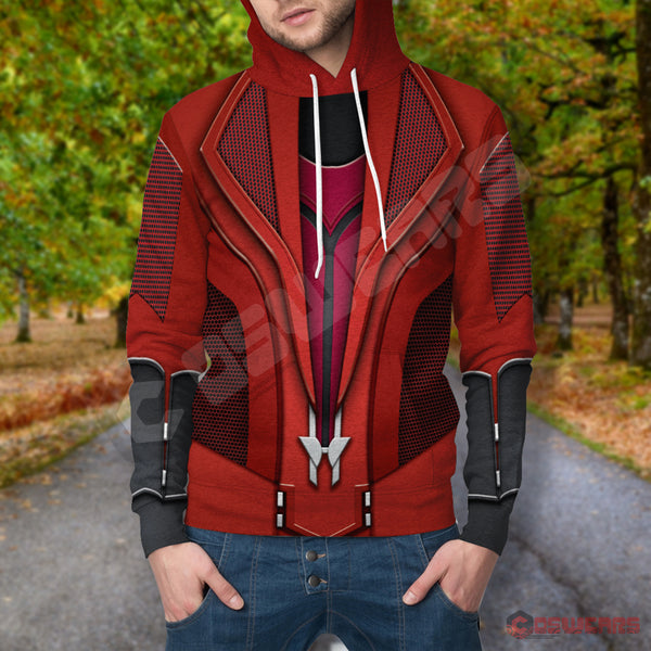 Avengers: End Game Scarlet Witch Inspired Pullover Hoodie