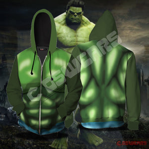 Avengers: End Game Hulk Inspired Zipped Hoodie