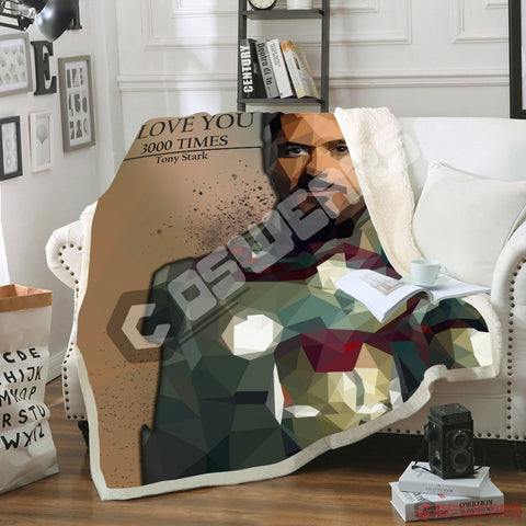 Avengers: End Game Tony Stark Blanket