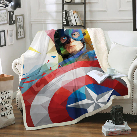 Avengers: End Game Cap's Shield Blanket