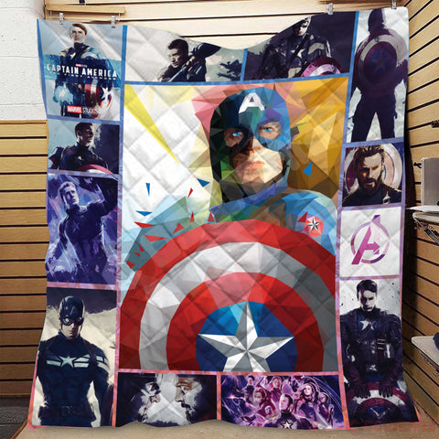 Avengers: End Game Cap's Shield Quilt