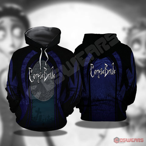 Corpse Bride Inspired Pullover Hoodie