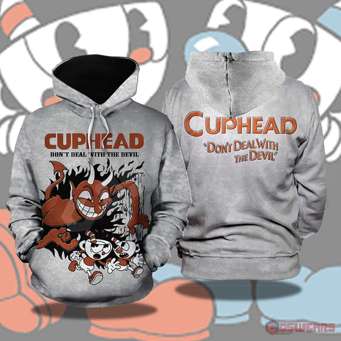 Cuphead And Mugman Inspired Pullover Hoodie