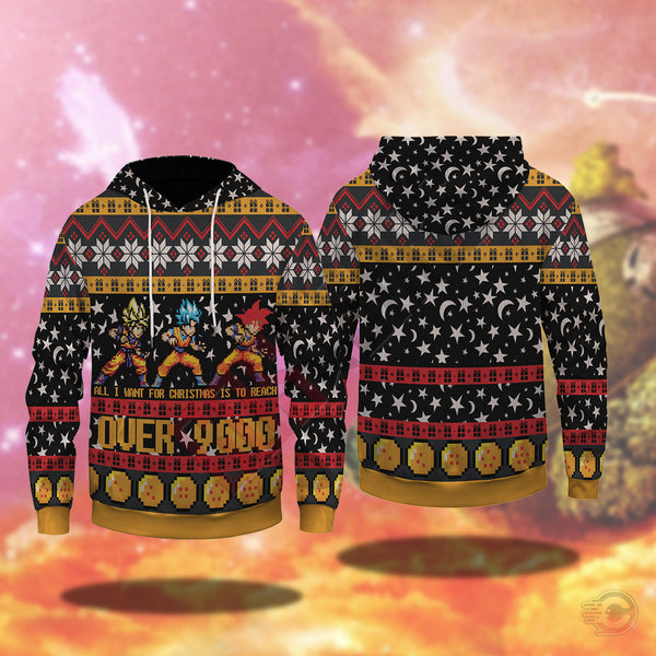 Dragonball Z : Over 9000 Pullover Hoodie