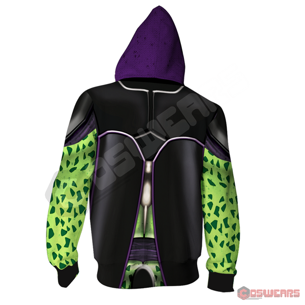 Dragon Ball Z - Cell Zipped Hoodie