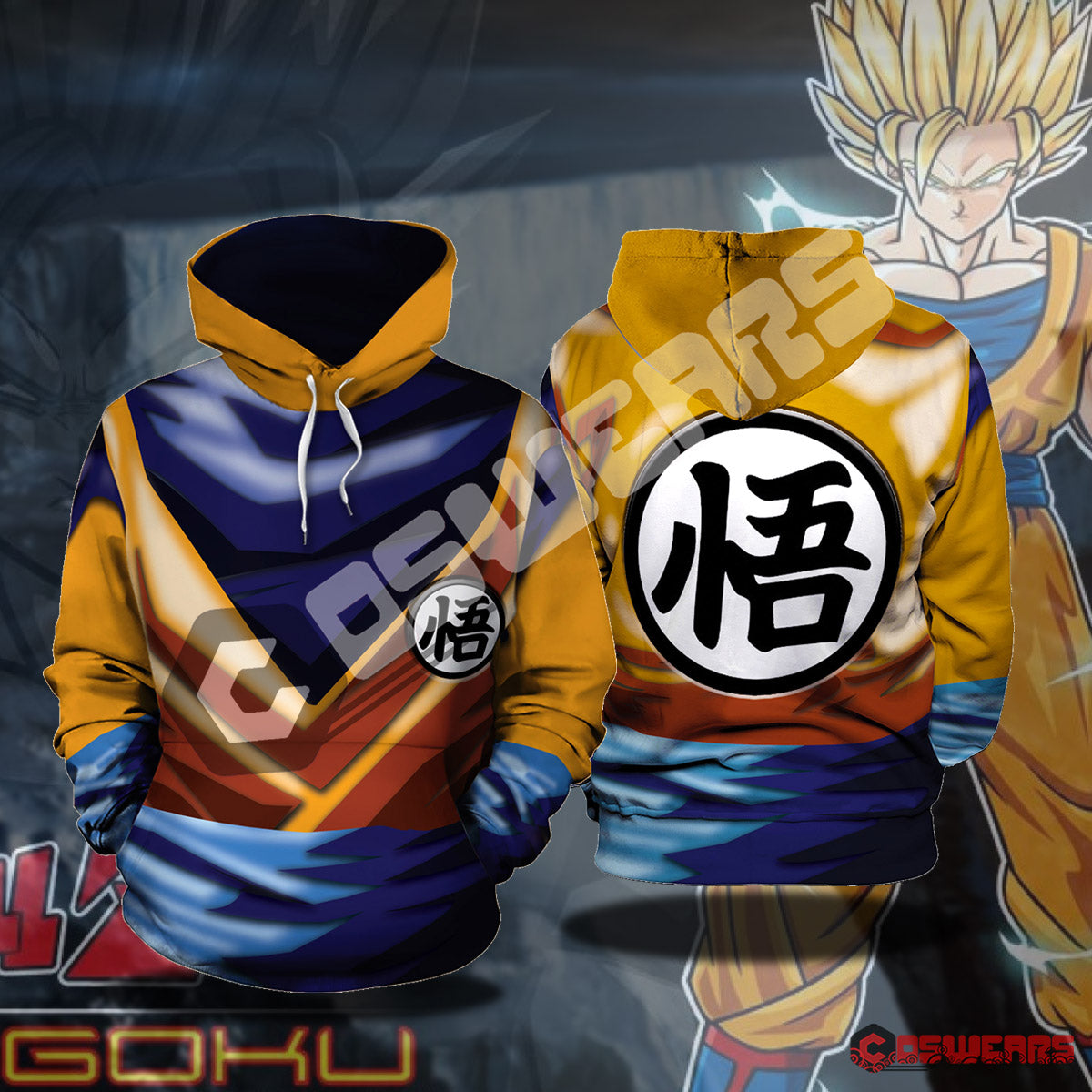Dragon Ball Z - Super Saiyan Goku Pullover Hoodie