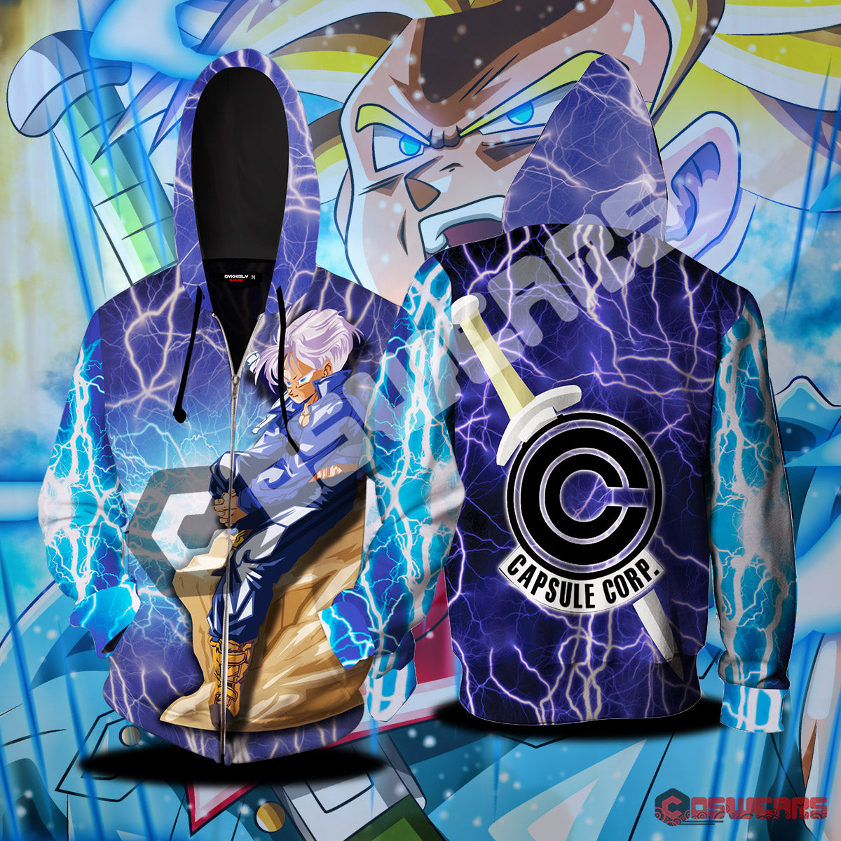 Dragon Ball Z - Trunks Zipped Hoodie