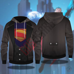 Double Effect : Superman Pullover Hoodie