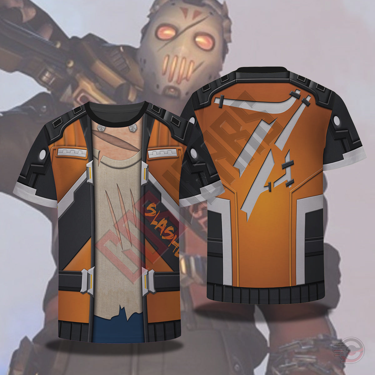 Double Effect Hoodie : Overwatch Soldier Slasher T-Shirt