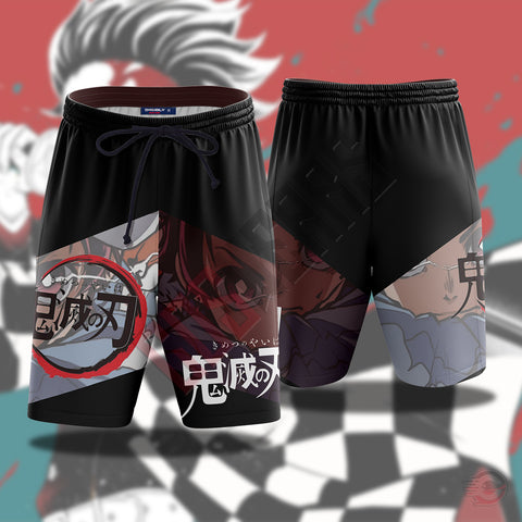Demon Slayer : Kamado Tanjiro Beach Shorts