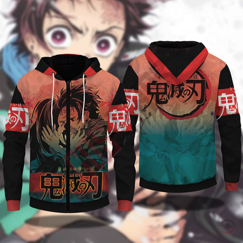 Demon Slayer : Brother's Love Zipped Hoodie