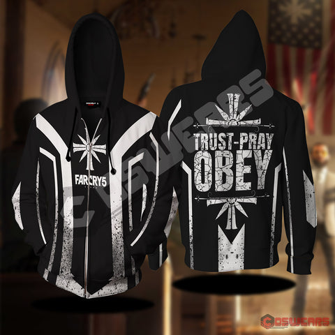 Far Cry - Trust Pray Obey Zipped Hoodie