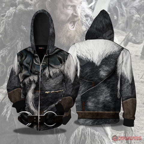 Game of Thrones - Tormund Inspired Zipped Hoodie