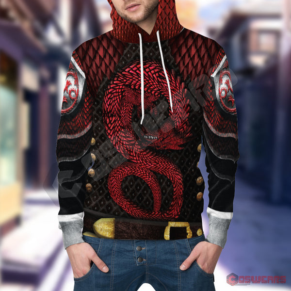 Game of Thrones - Rhaegar Targaryen Inspired Pullover Hoodie