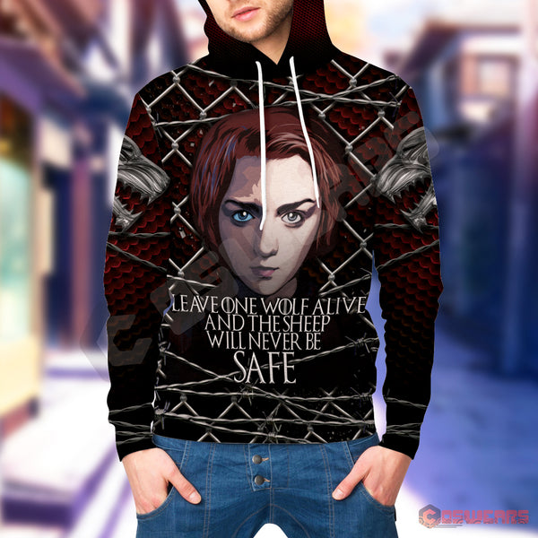 Game of Thrones - Arya Stark Inspired Pullover Hoodie