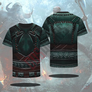 God Of War : Kratos Armour Green T-Shirt