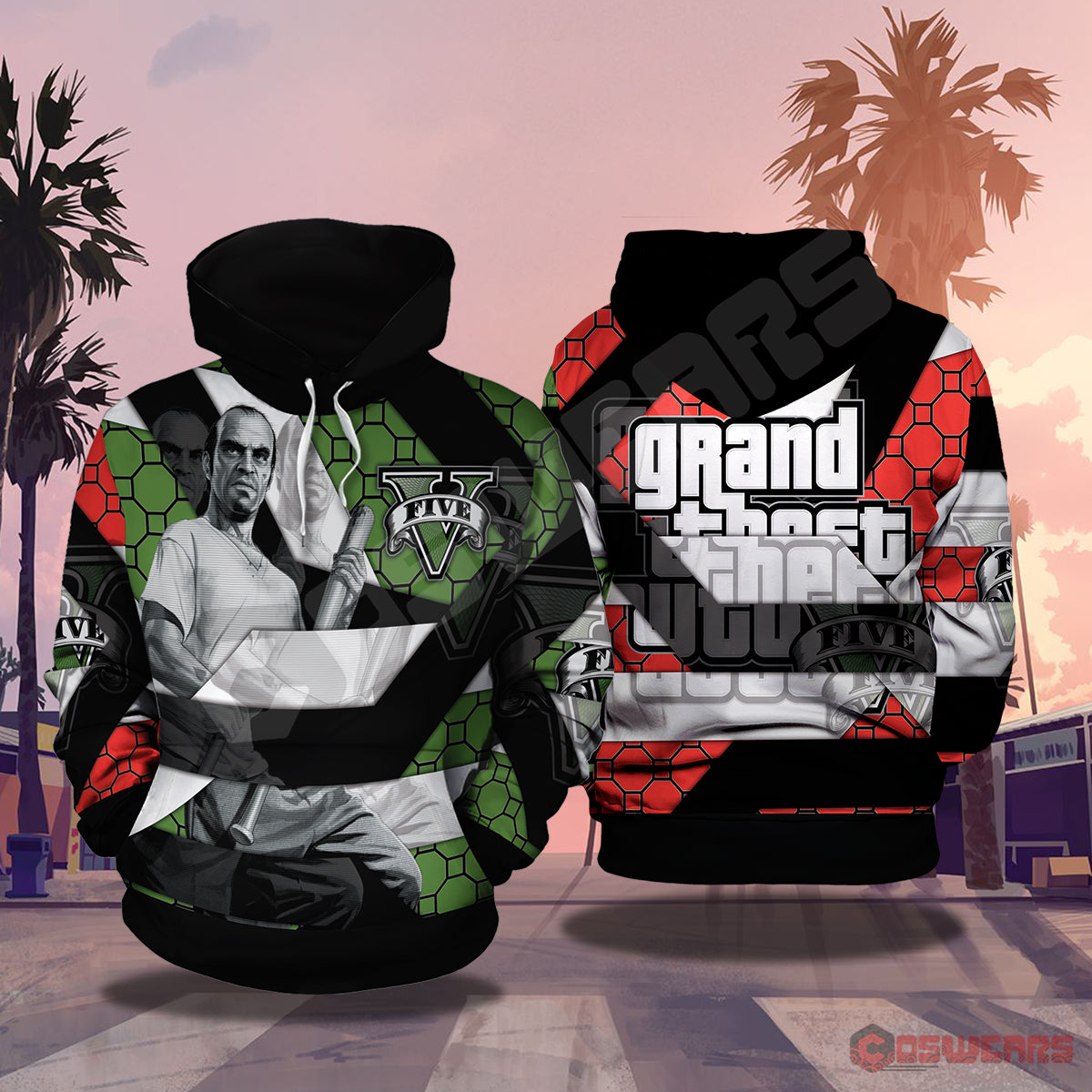Grand Theft Auto : Trevor Philips Inspired Pullover Hoodie