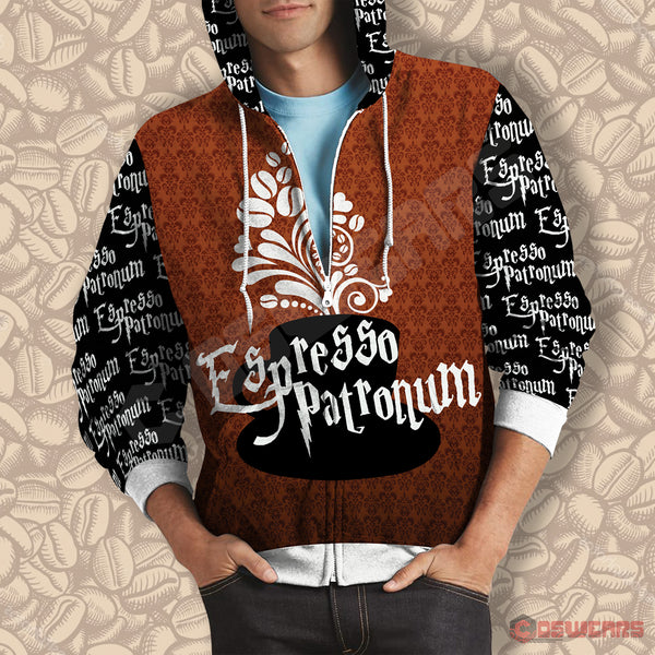 Harry Potter Expresso Patronum Zipped Hoodie