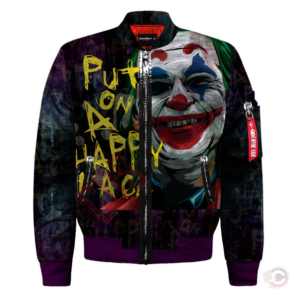 The Joker : Put on a Happy Face Bomber Jacket