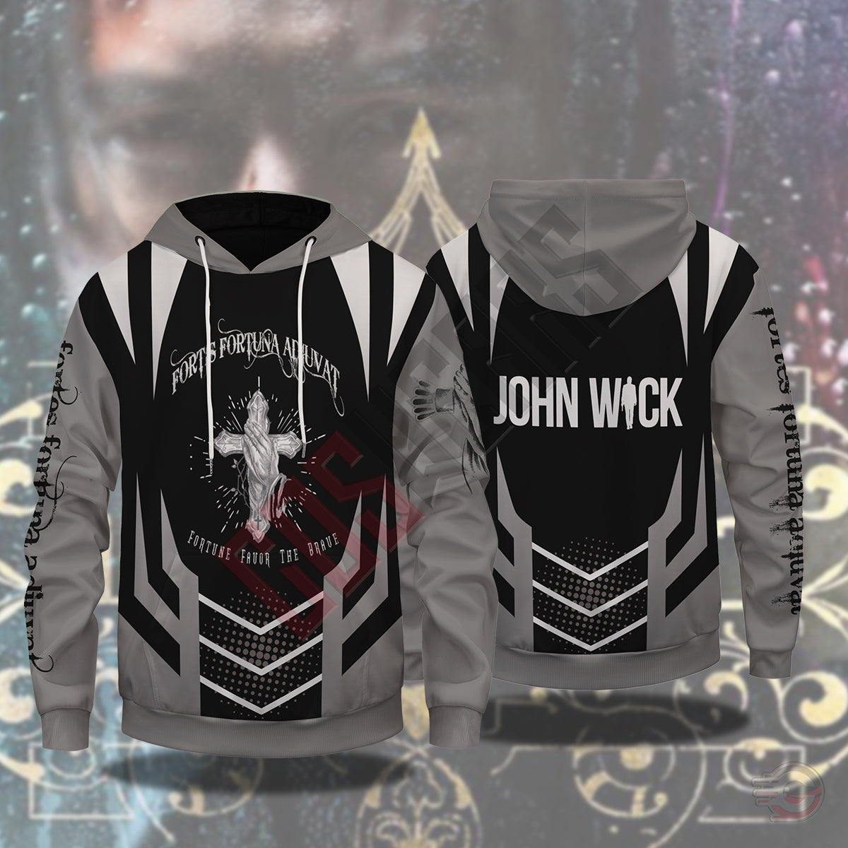 John Wick: Fortune Favor The Brave Pullover Hoodie
