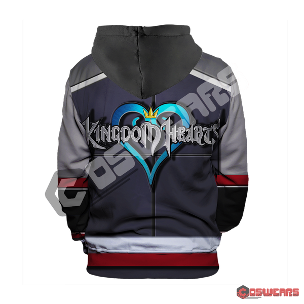 Kingdom Hearts Sora Inspired Pullover Hoodie