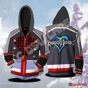 Kingdom Hearts Sora Inspired Zipped Hoodie