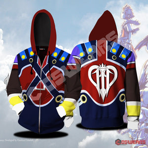 Kingdom Hearts Pete Inspired Zipped Hoodie
