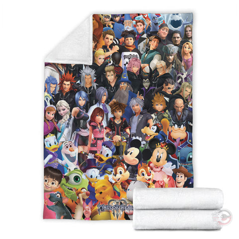 Kingdom Hearts III Characters Blanket