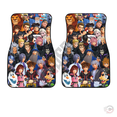 Kingdom Hearts III Characters Car Floor Mat