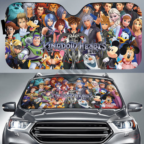 Kingdom Hearts III Characters Car Sun Shade