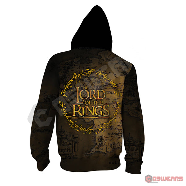 Lord of the Rings - Ring of Power Zipped Hoodie