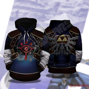 Legend of Zelda: Shieka Inspired Pullover Hoodie
