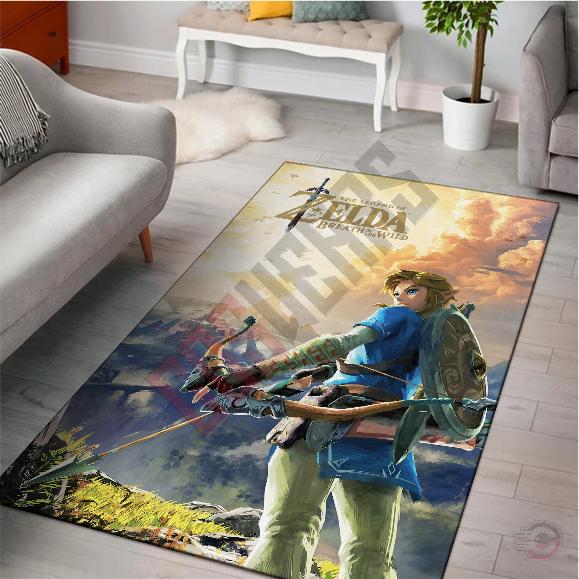 Legend of Zelda : Link Breath Of The Wild Rug