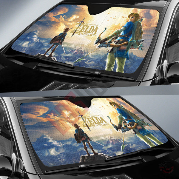 Legend of Zelda : Link Breath Of The Wild Car Sun Shade