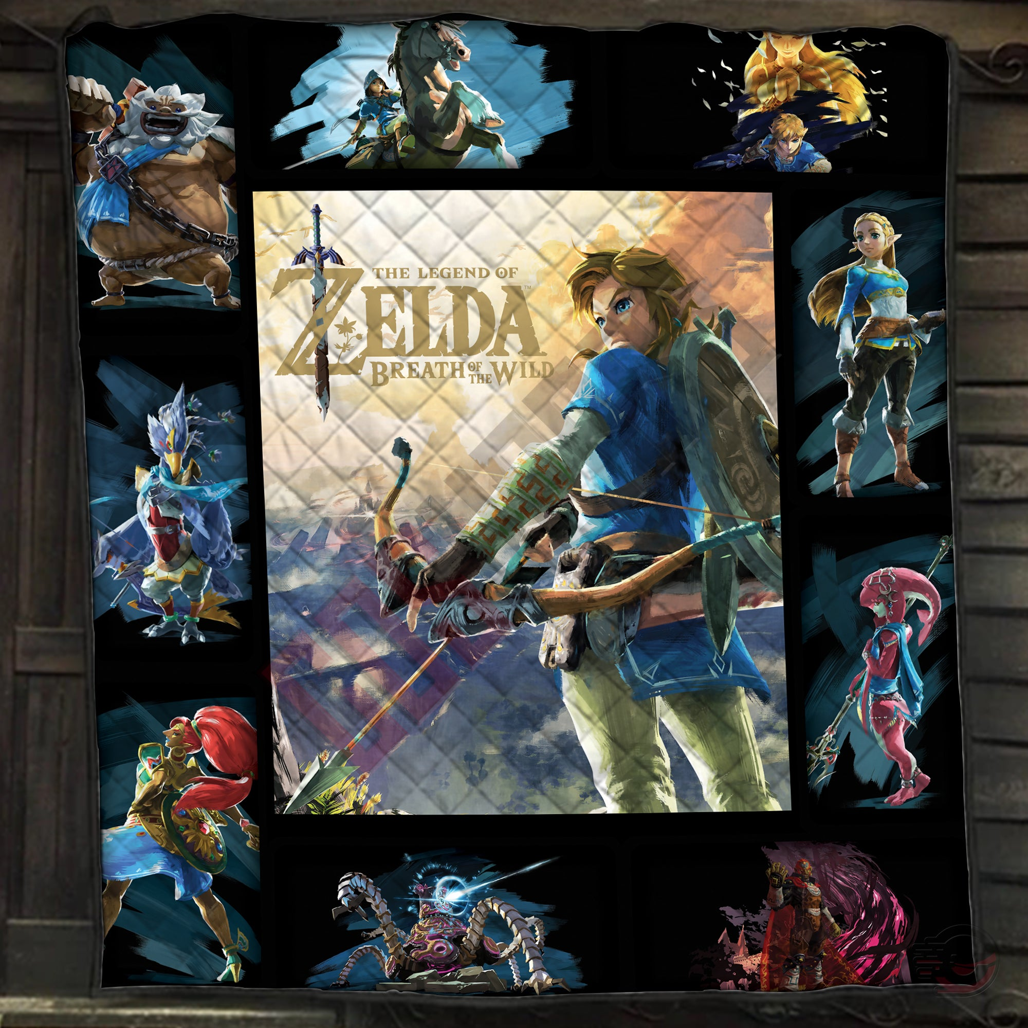 Legend of Zelda : Link Breath Of The Wild Quilt