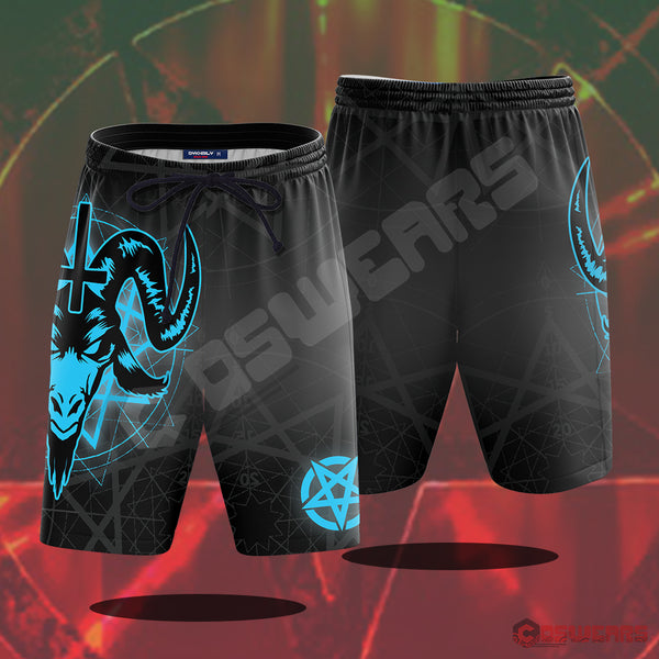 Lucifer - Satanic Goat Beach Shorts