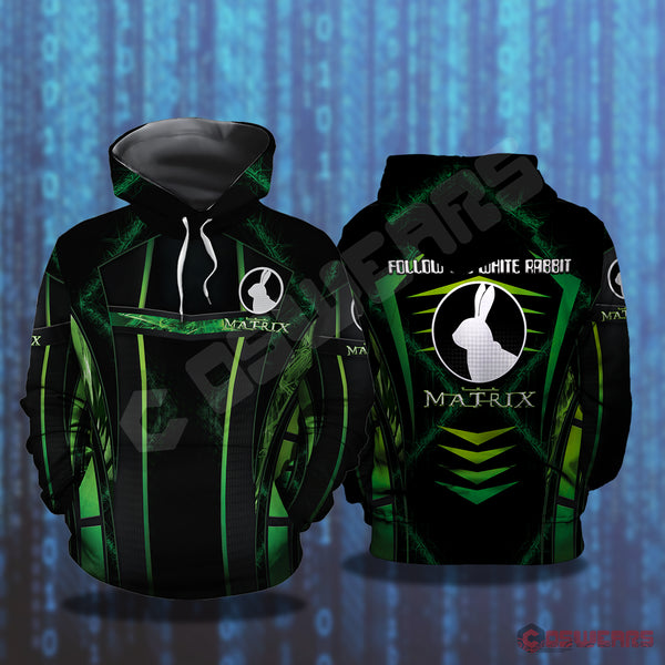 The Matrix: Follow The White Rabbit Pullover Hoodie