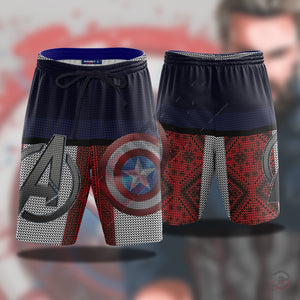 Avengers : Captain America Beach Shorts