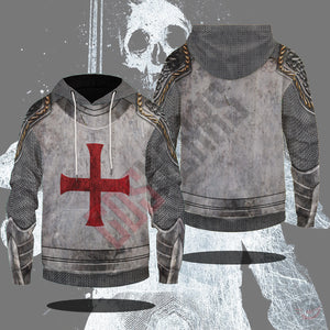 Medieval Armor : Knights Of The Cross Pullover Hoodie