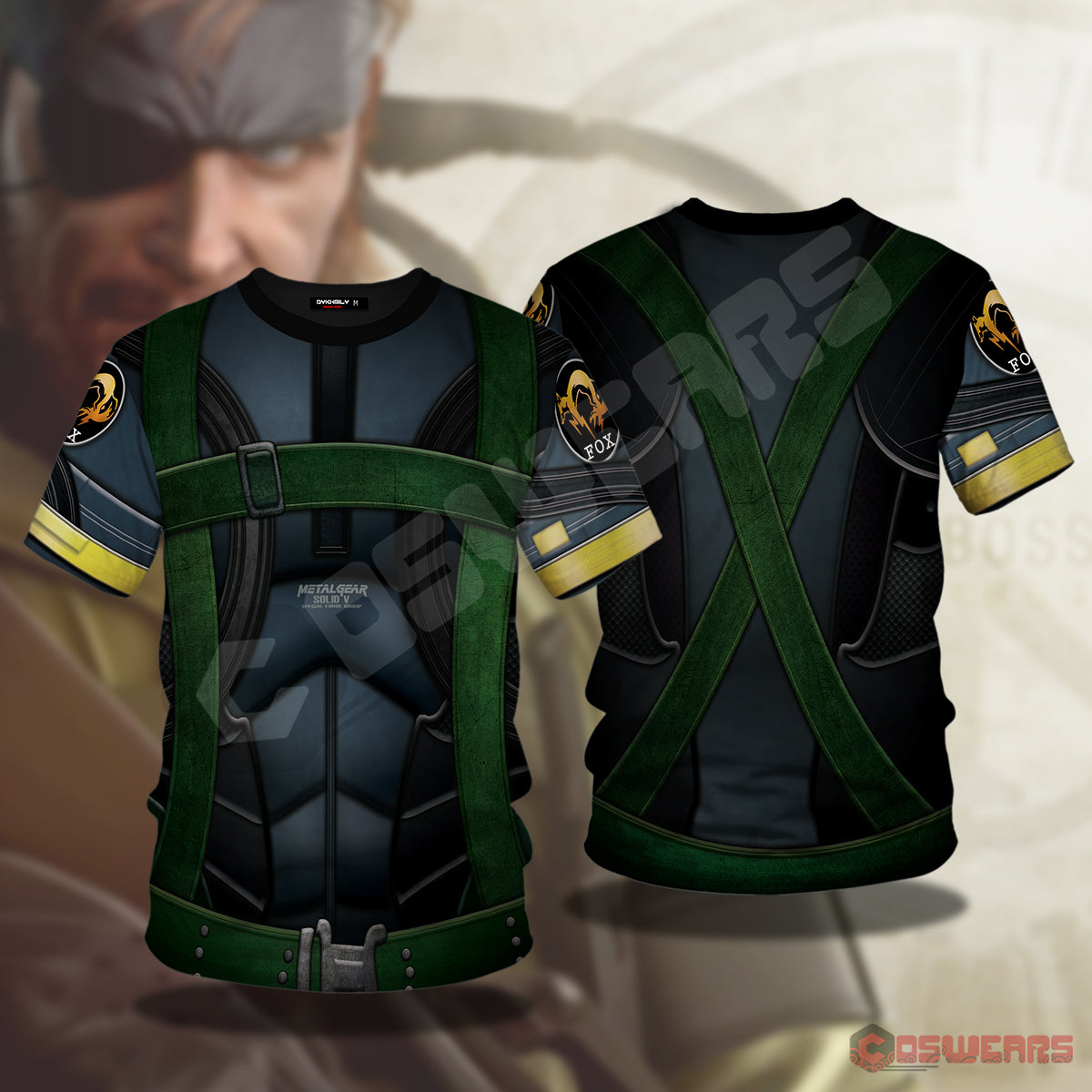 Metal Gear Solid : Solid Snake Inspired T-Shirt