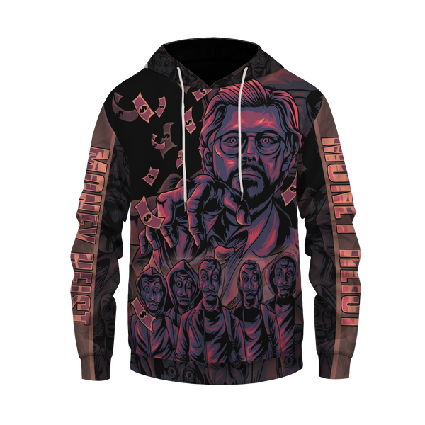 Money Heist : The Professor Pullover Hoodie