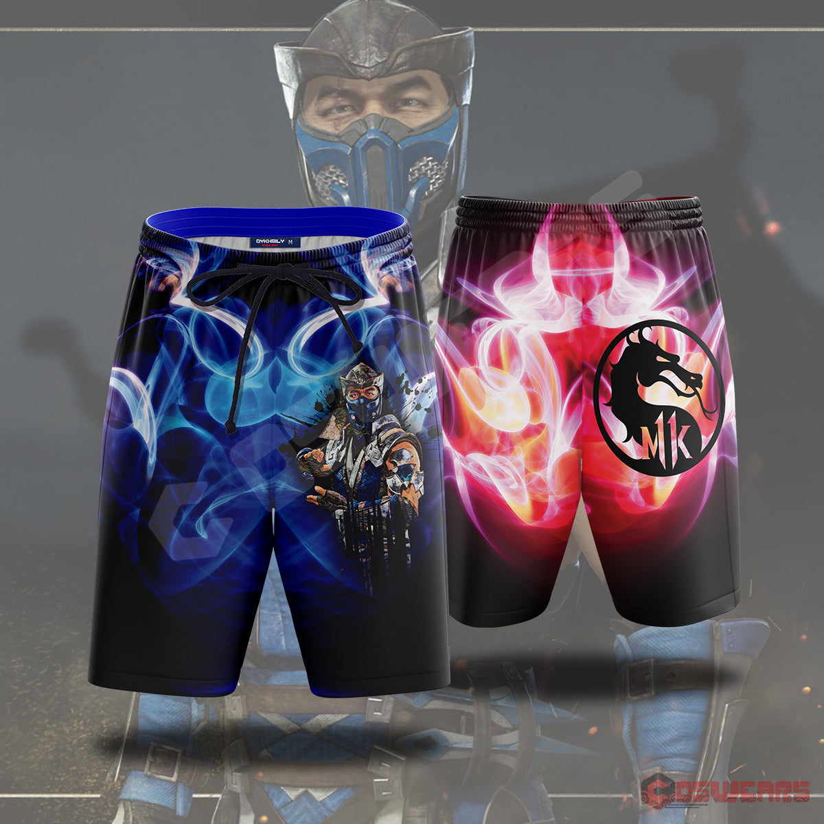 Mortal Kombat : MK11 Subzero Inspired Beach Shorts