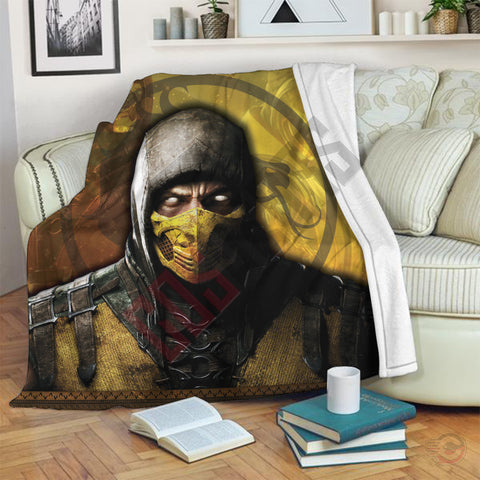 Mortal Kombat: Scorpion Inspired Blanket