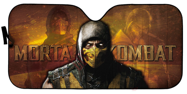 Mortal Kombat : Scorpion Inspired Car Sun Shade