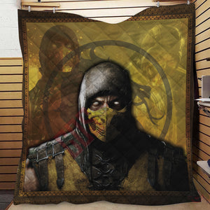Mortal Kombat : Scorpion Inspired Quilt